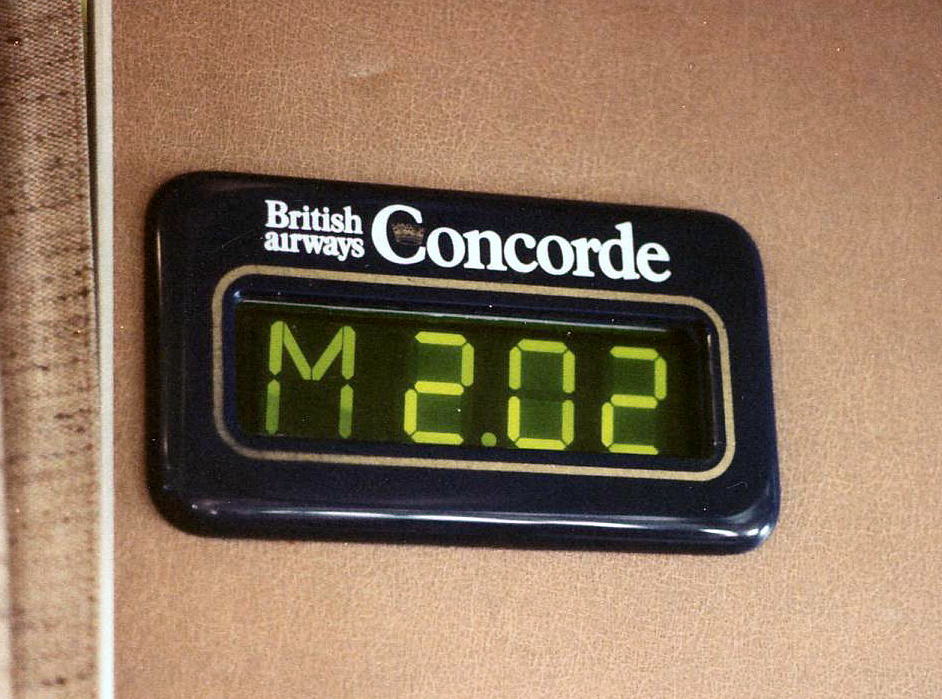 Mach Meter on the Concorde