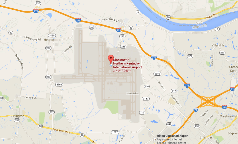 Friday Aviation Trivia Answer. Image taken from Google Map on October 27, 2014