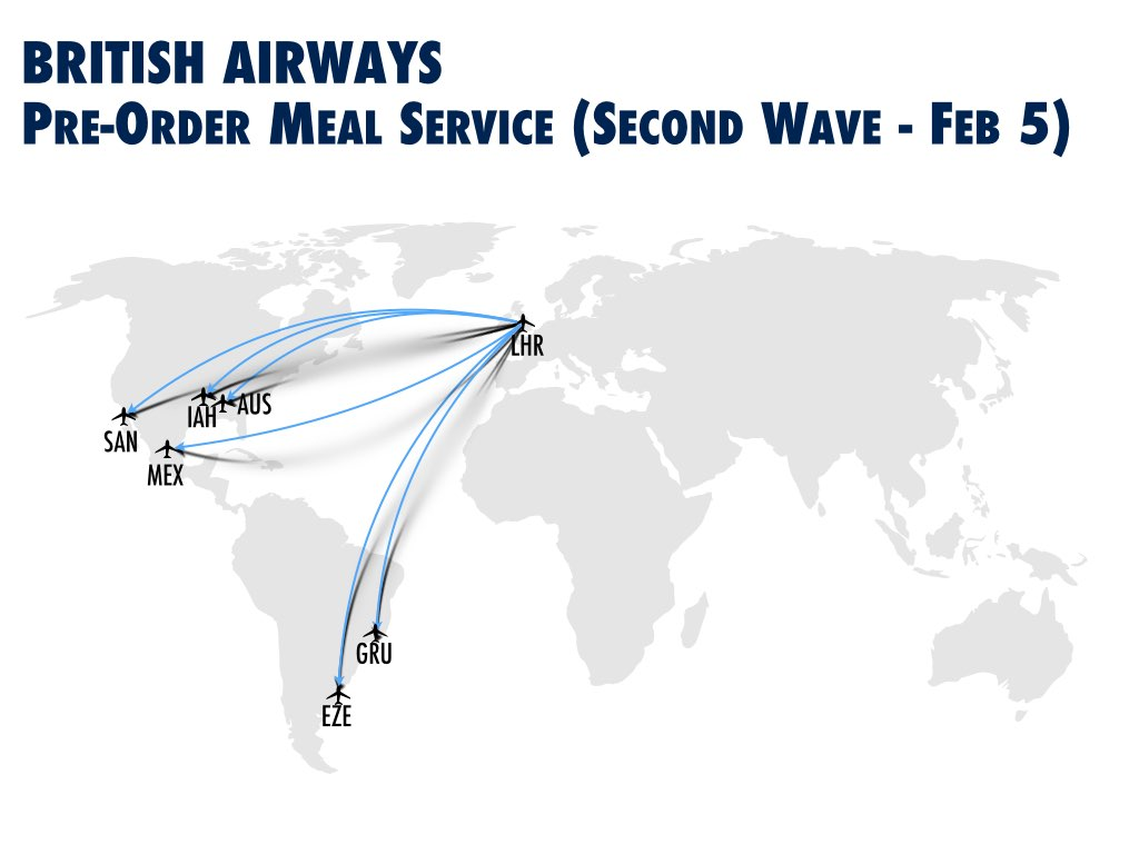 BA Pre-order Meal Service Second Wave