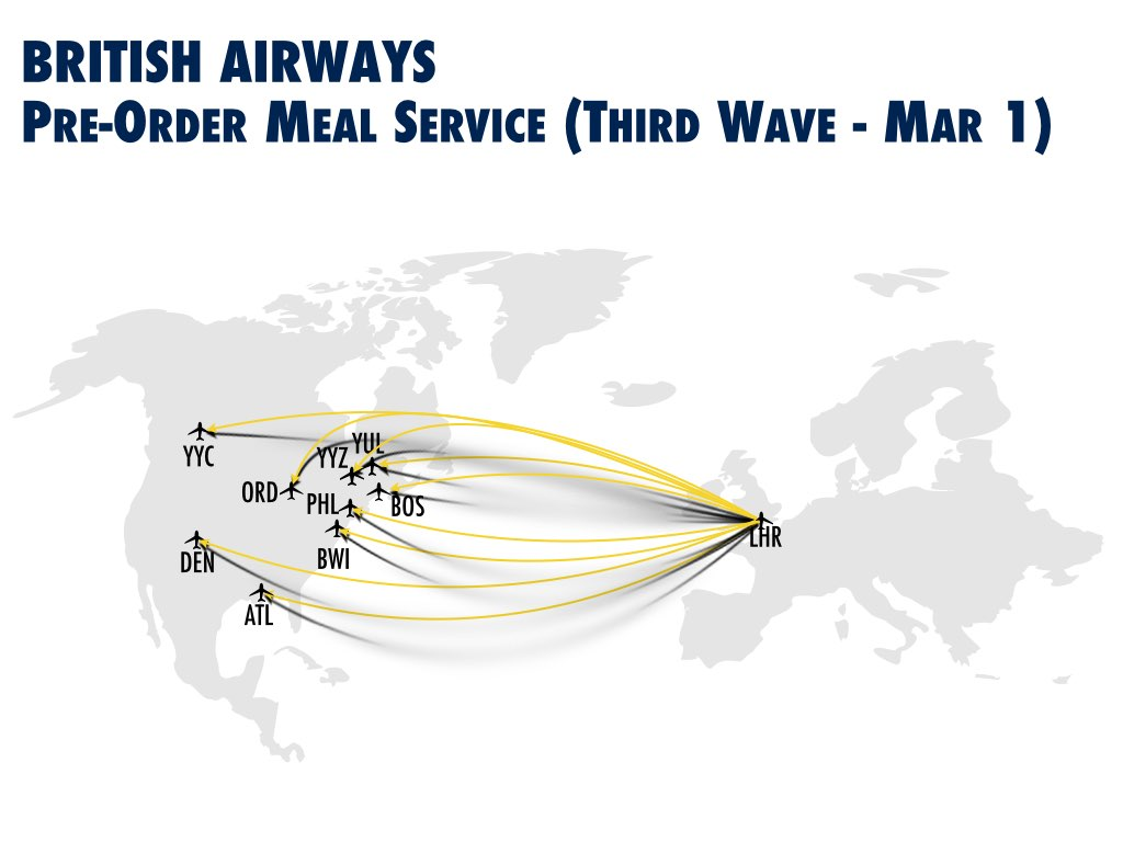 BA Pre-order Meal Service Third Wave
