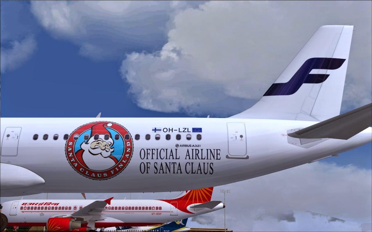 Santa Plane Finnair Airbus A321