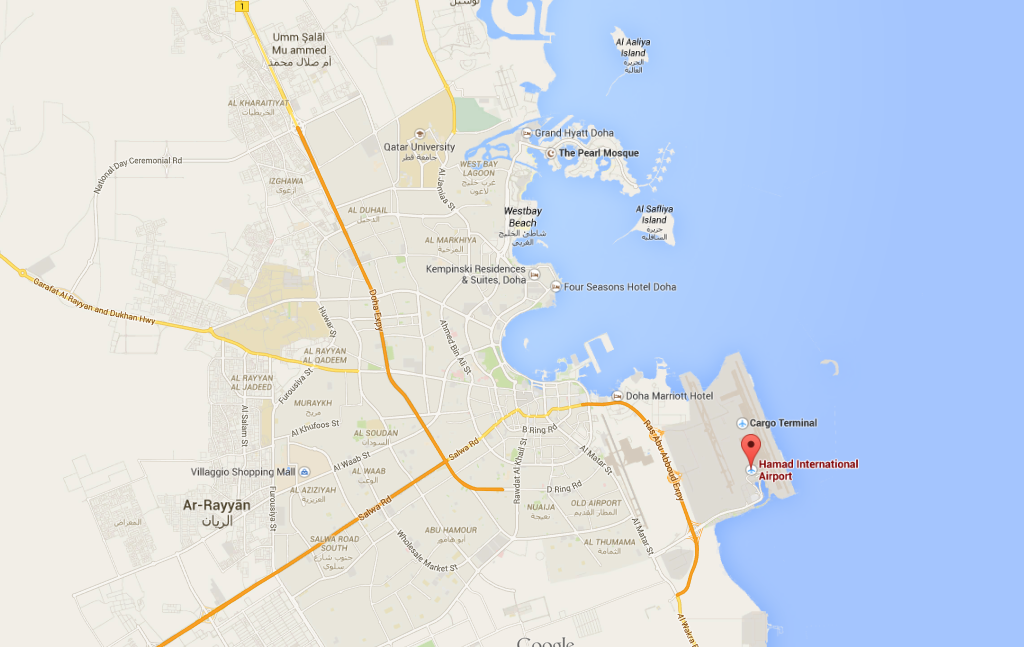 Geography of New Doha Hamal International Airport