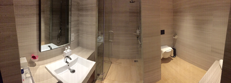 New Hong Kong SilverKris Lounge Shower Suite (Image taken from http://www.businesstraveller.asia/files/News-images/Singapore-Airlines/Shower-suites.jpg on November 6, 2014 - All Rights Reserved)
