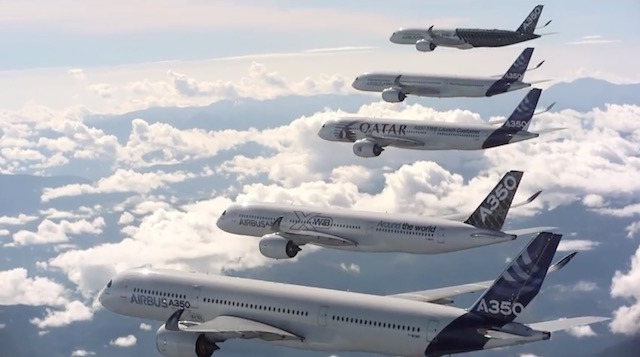 Image taken from http://petapixel.com/2014/12/03/airbus-shows-off-five-of-its-300m-a350-jetliners-in-this-billion-dollar-photoshoot/ on December 7, 2014 (All Rights Reserved)