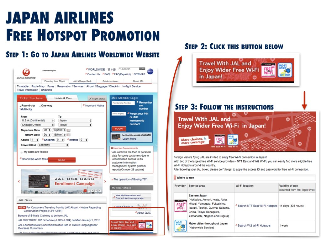 Image information from Japan Airlines' website on December 7, 2014 (All Rights Reserved)