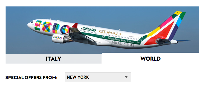 Altalia Cyber Monday Sales. Information taken from the airline's website on December 1, 2014 (All Rights Reserved)