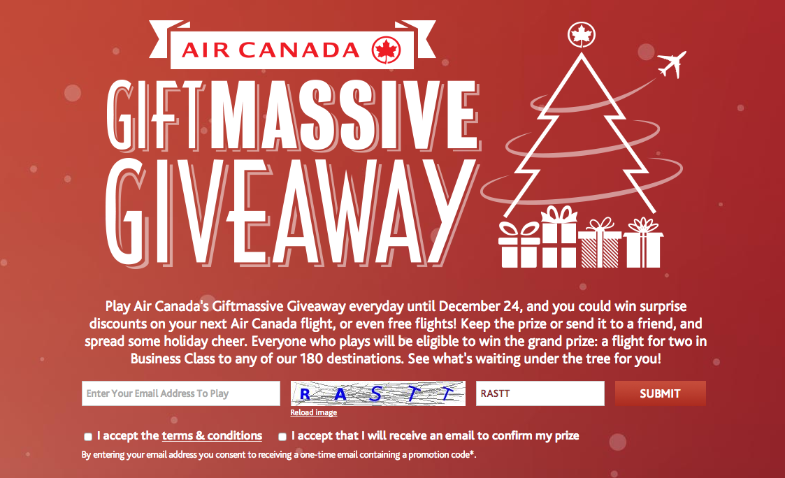 CONTEST) Air Canada Spreads Holiday Cheers 2014 | Experience The Skies