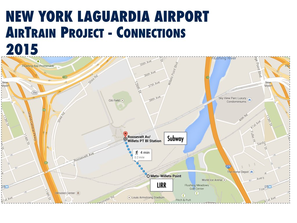 New York LaGuardia International Airport (LGA) Improvement Airtrain Station