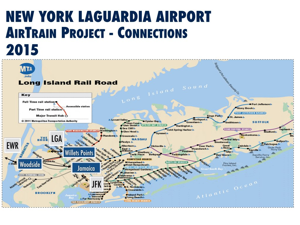 New York LaGuardia International Airport (LGA) Improvement Airtrain Potential Routing