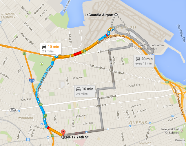 Distance from LGA to Jackson Hts - Roosevelt Av station