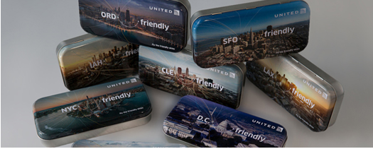 United Airlines 2014 Special Edition Amenity Tins
