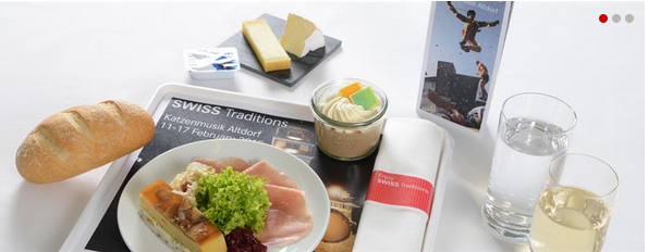 SWISS Europe Business Class Meal Sample (February 5 to 17, 2015)