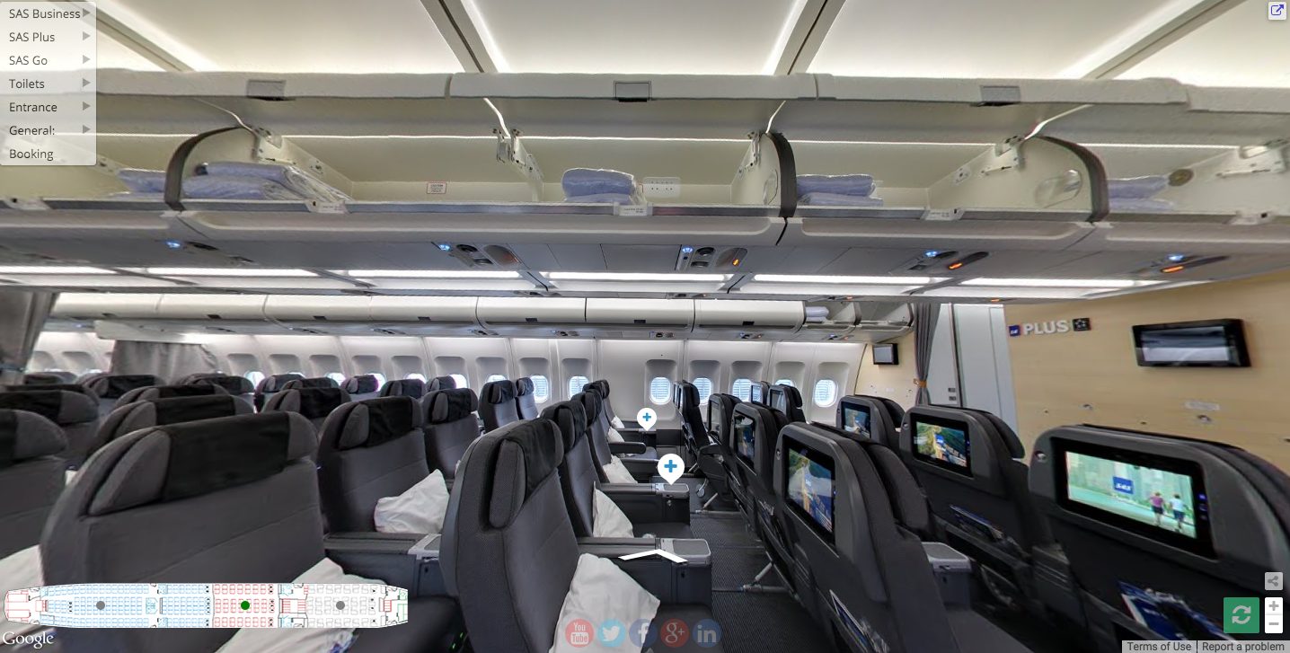 Screen Shot from the SAS A330 street view