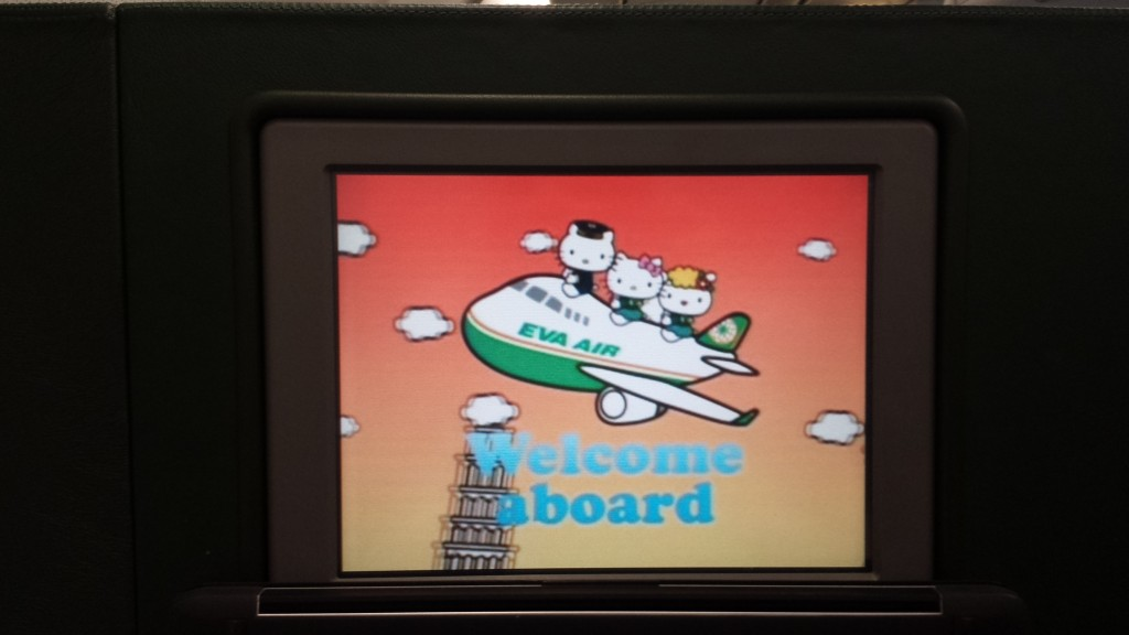 Hello Kitty on EVA Airways