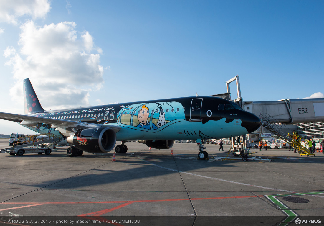 Brussels Airlines A320 Tintin Livery