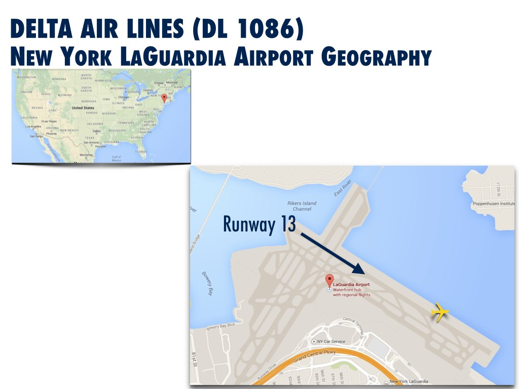 New York LaGuardia Airport Geography DL1086