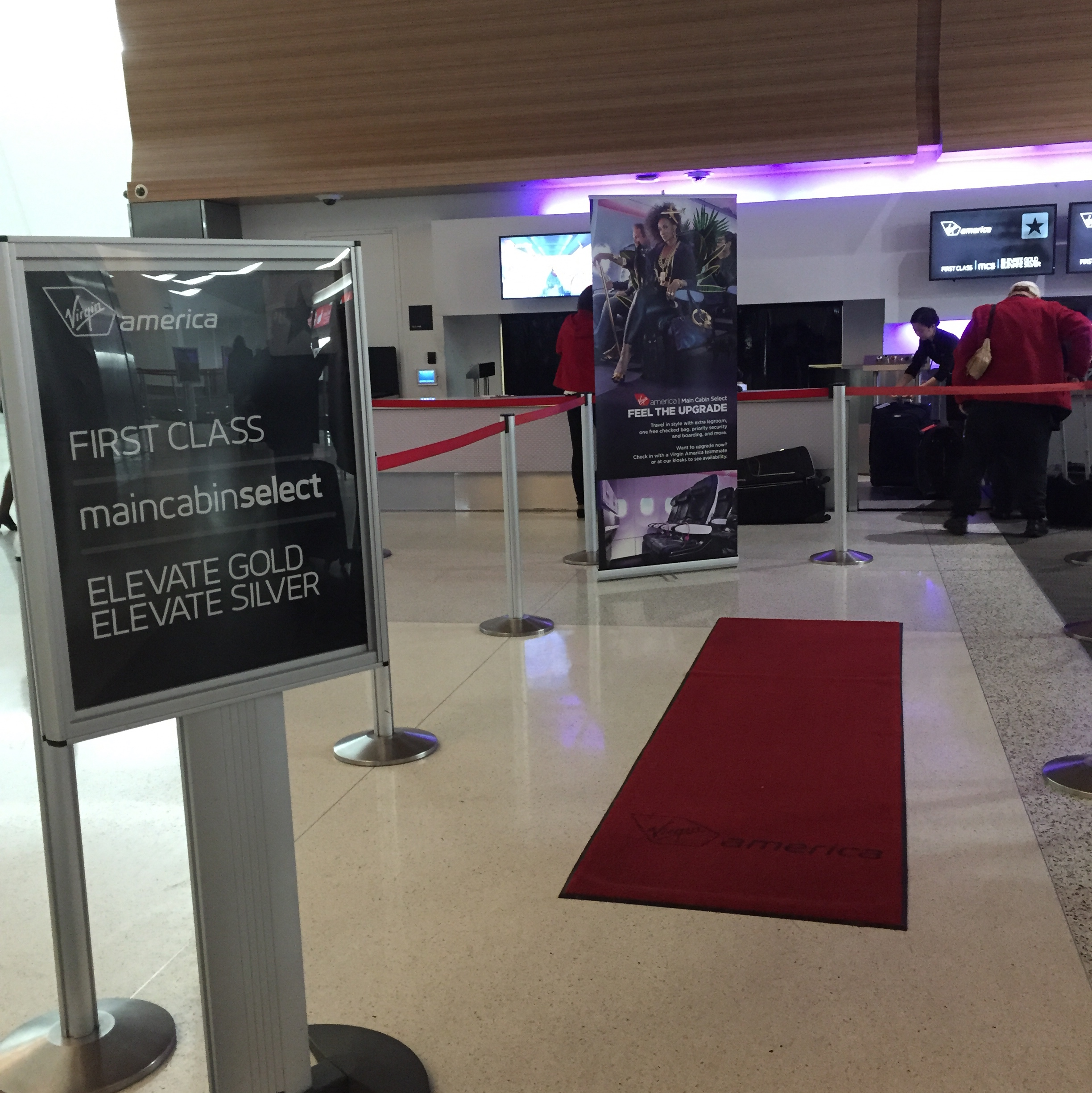 Virgin America Check In at SFO (Elite Line)