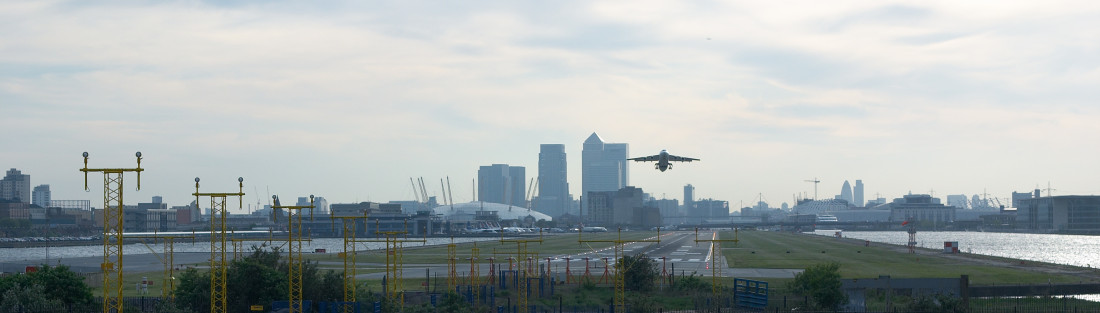 London City Airport takeoff