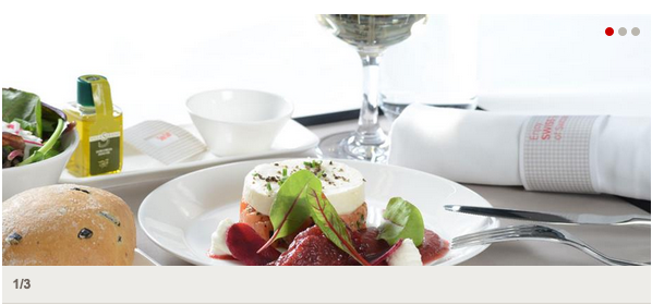 SWISS Business Class Meal Service (Spring 2015)