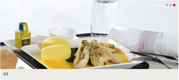 SWISS Business Class Meal Service (Spring 2015) Image taken from SWISS' website on March 4, 2014 (All Rights Reserved)