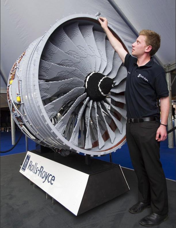 Rolls Royce Engine Boeing 787 Lego