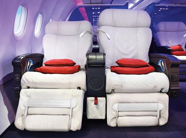 Virgin America First Class Seats