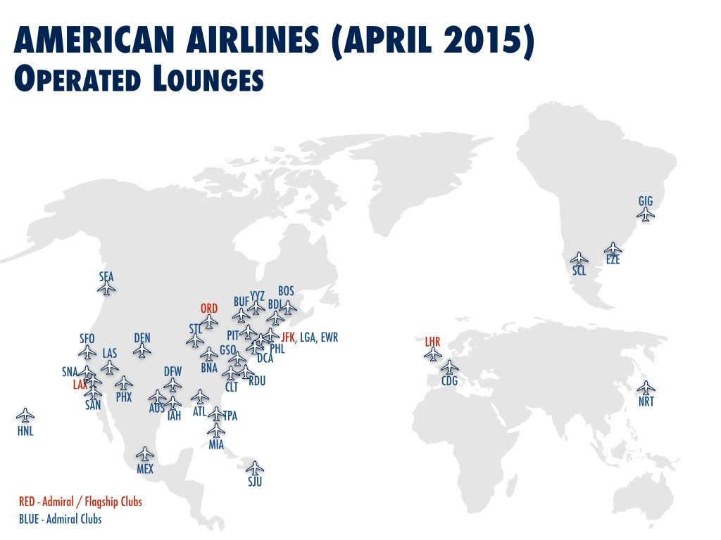 American Airlines International Operations Lounges