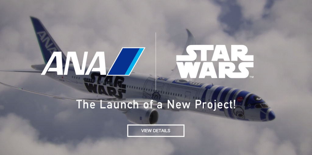 ANA is working with Star Wars(R)