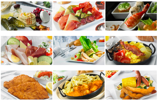 Sample Austrian Airlines Enhanced Economy Meals