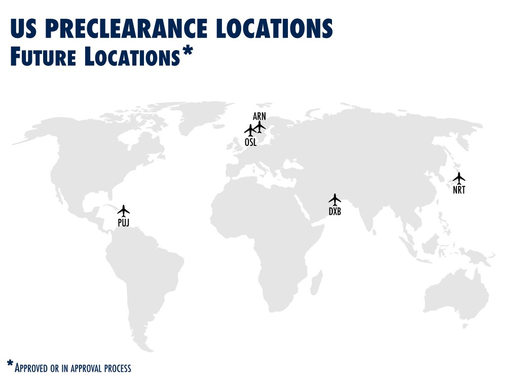 US Preclearance locations future