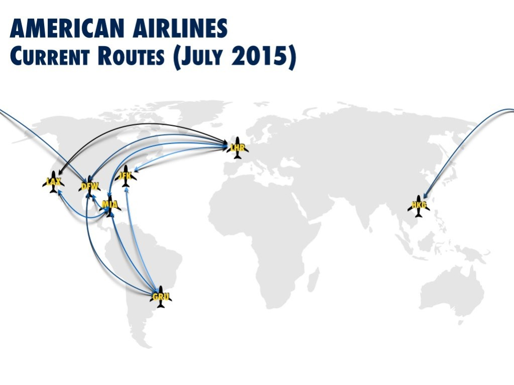 American Airlines Current Boeing 777-300ER Routes