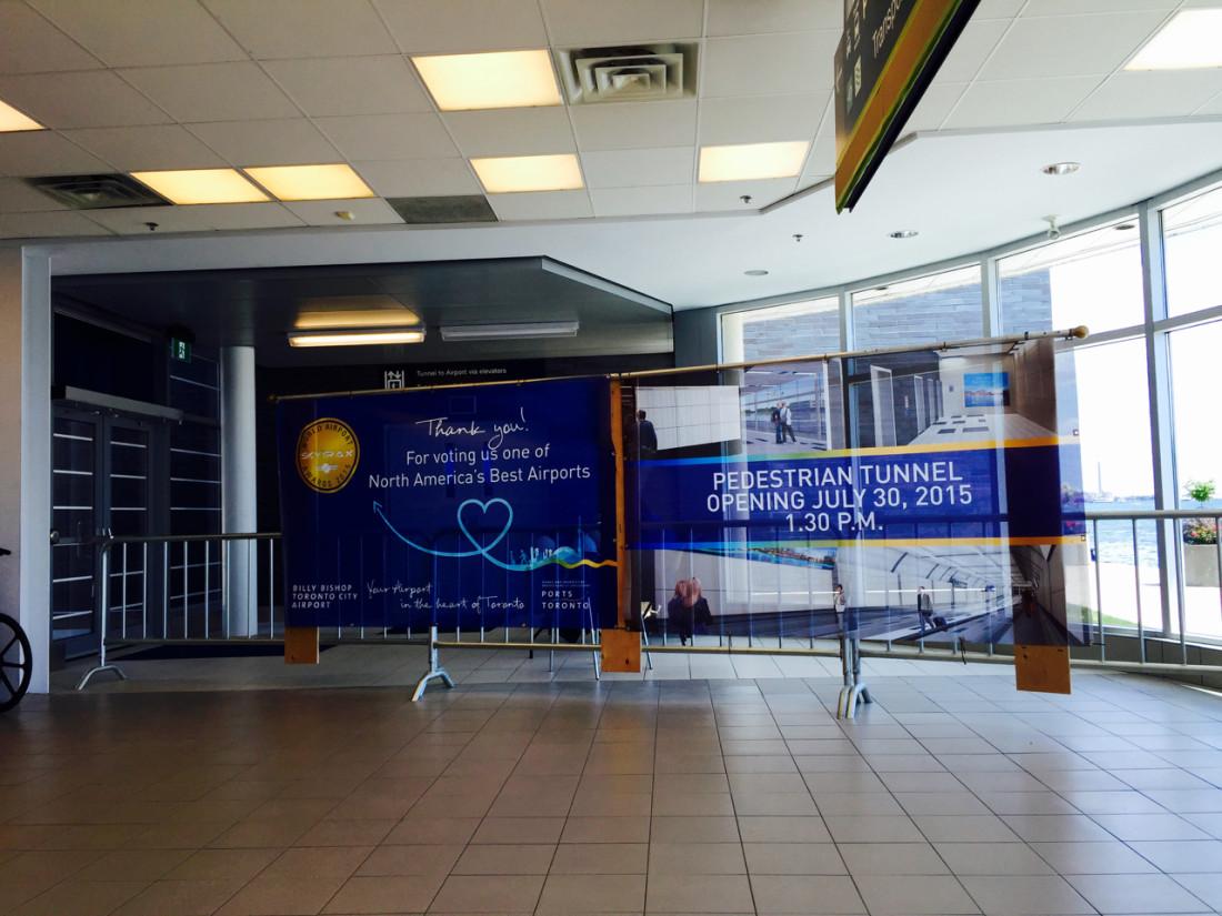 Billy Bishop Toronto Island Airport Tunnel Opening