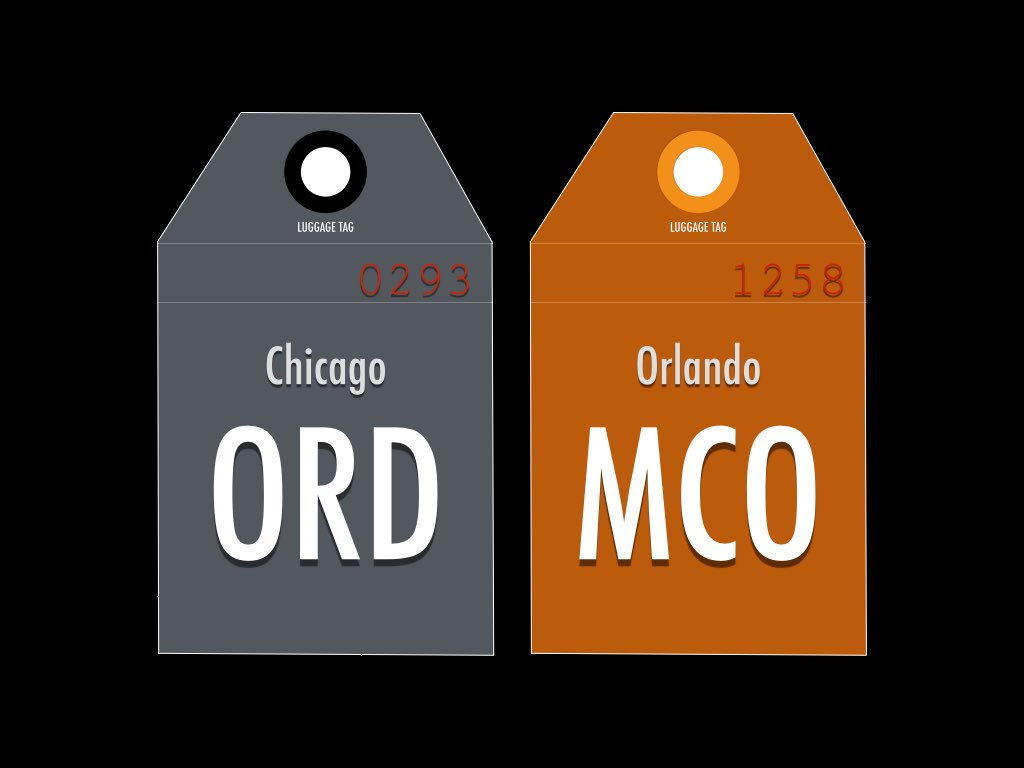 IATA code for Chicago O'Hare and Orlando