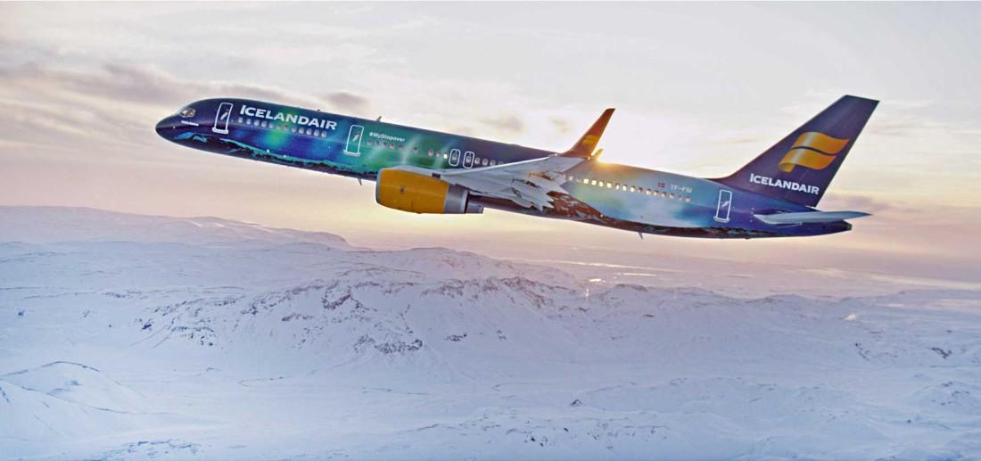 Icelandair Boeing 757 hekla-aurora