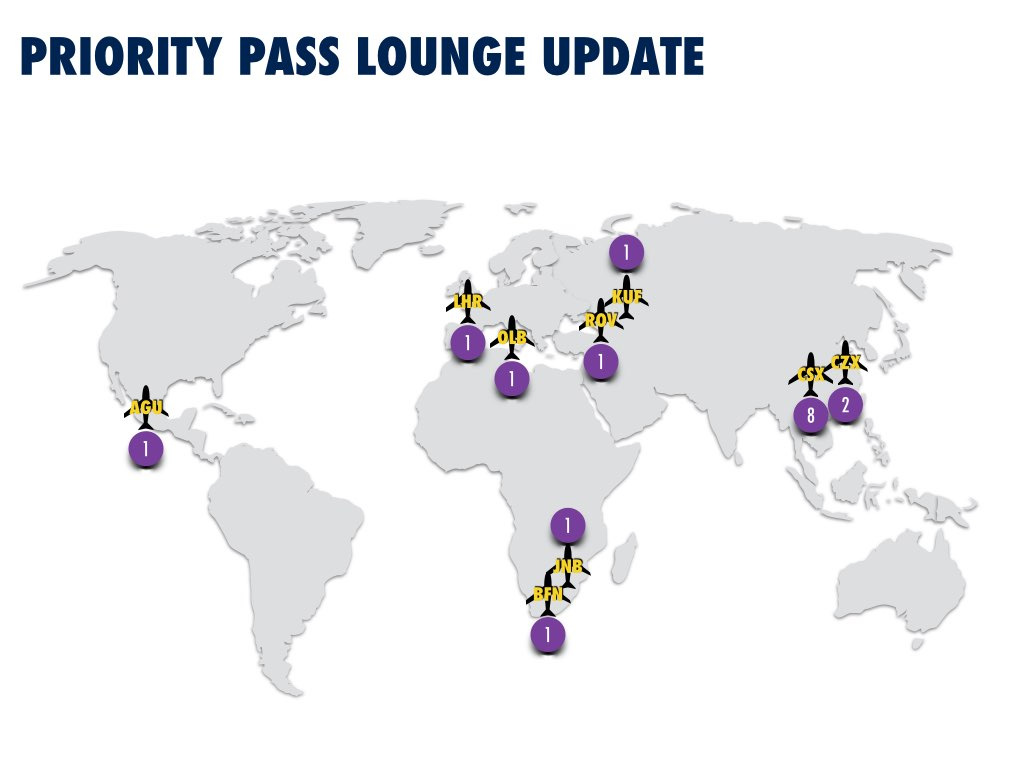 Priority Pass August 2015 Lounges