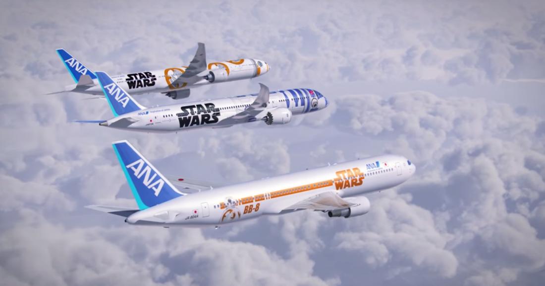 STAR WARS ANA JET, BB8 ANA JET, R2-D2 ANA JET