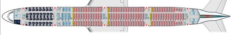 Air Canada Boeing 777-300HD 77WH Seat Map