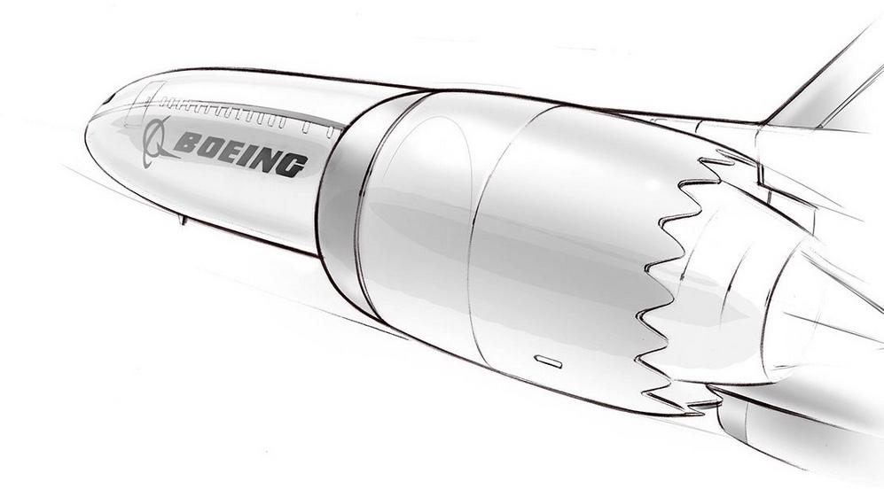 Boeing 777X Concept Sketch