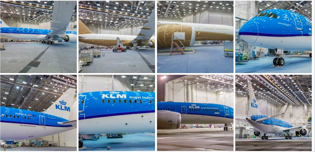 KLM Boeing 787-9 - Paint Shop