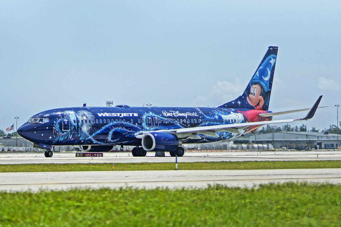 WestJet Airlines Disney Livery Boeing 737