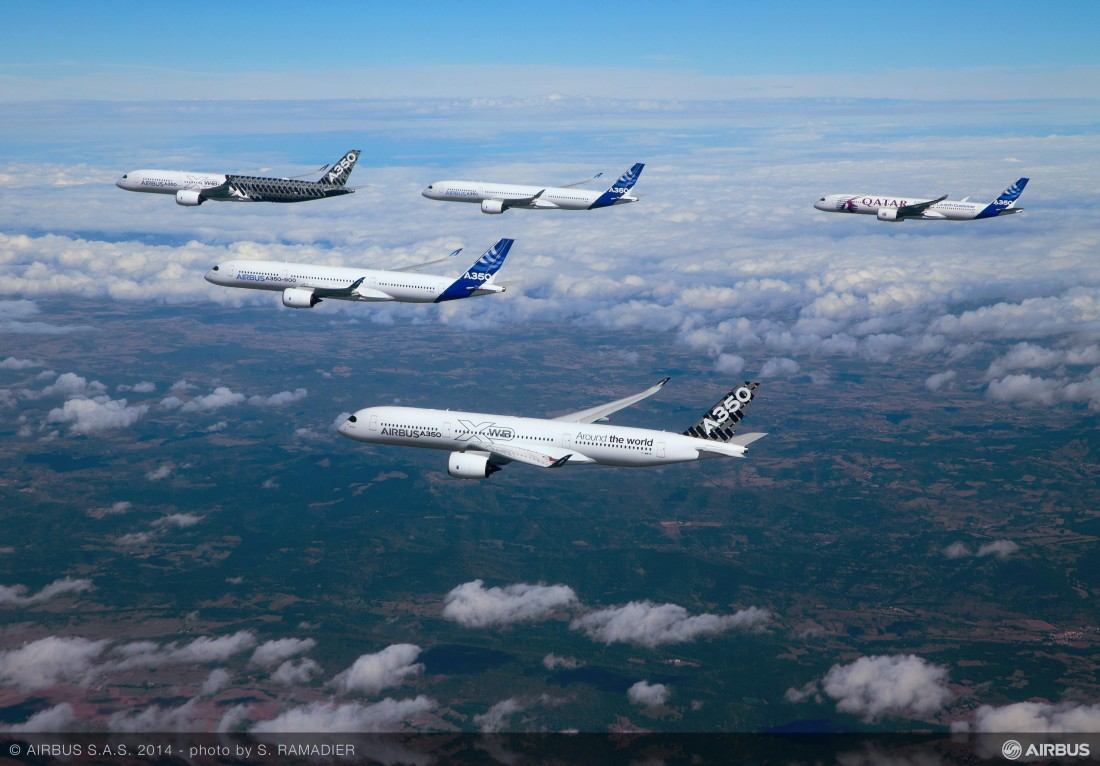 Airbus A350 formation