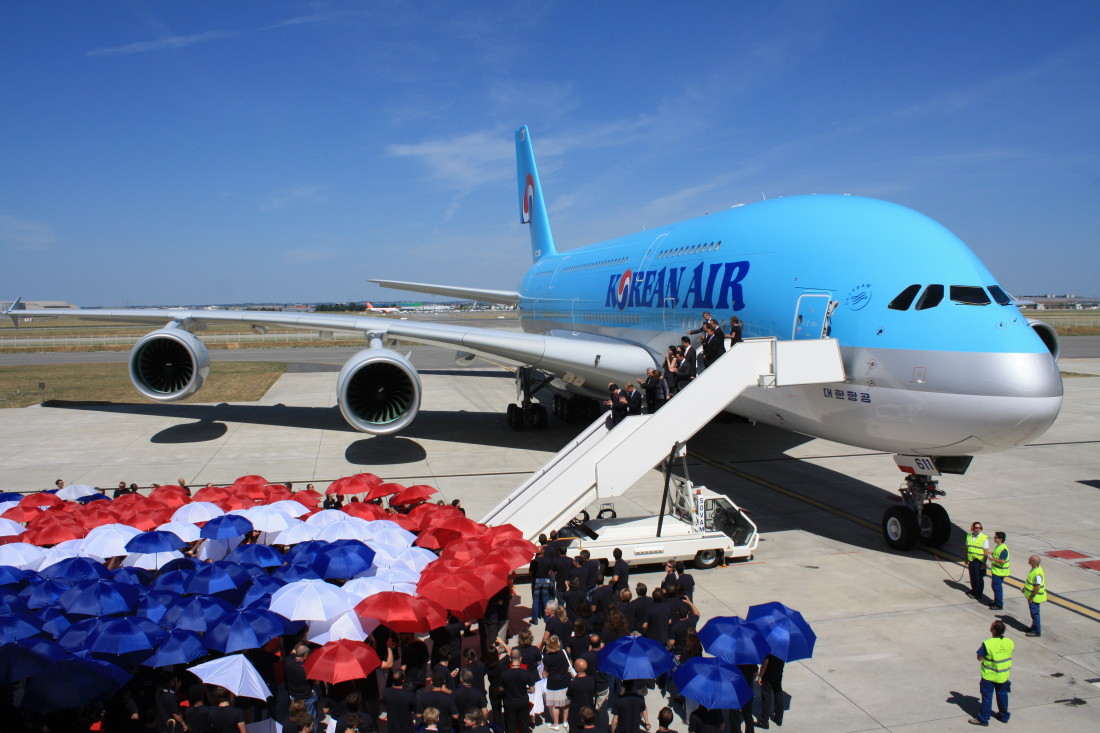 Korean Air Lines A380 Delivery in France