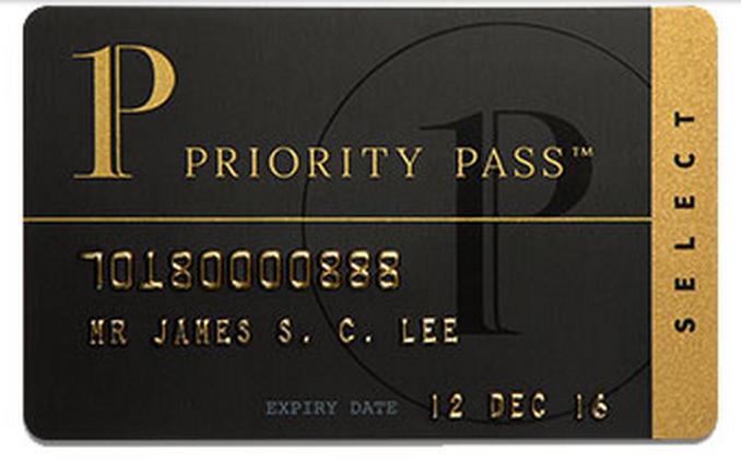 New Priority Pass Select Membership Card