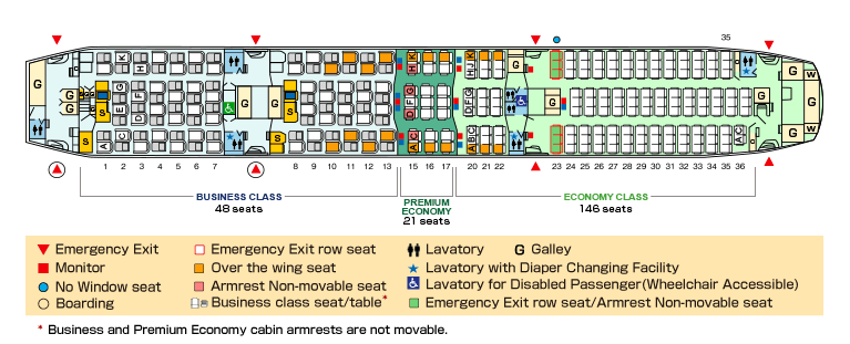 All Nippon Airways Boeing 787-9 Seat Map
