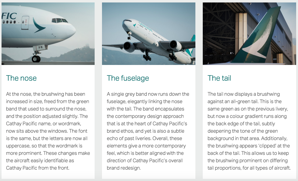 Cathay Pacific New Livery Design Language