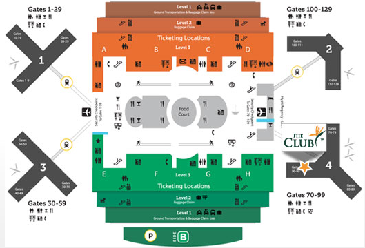 Map of The Club at MCO