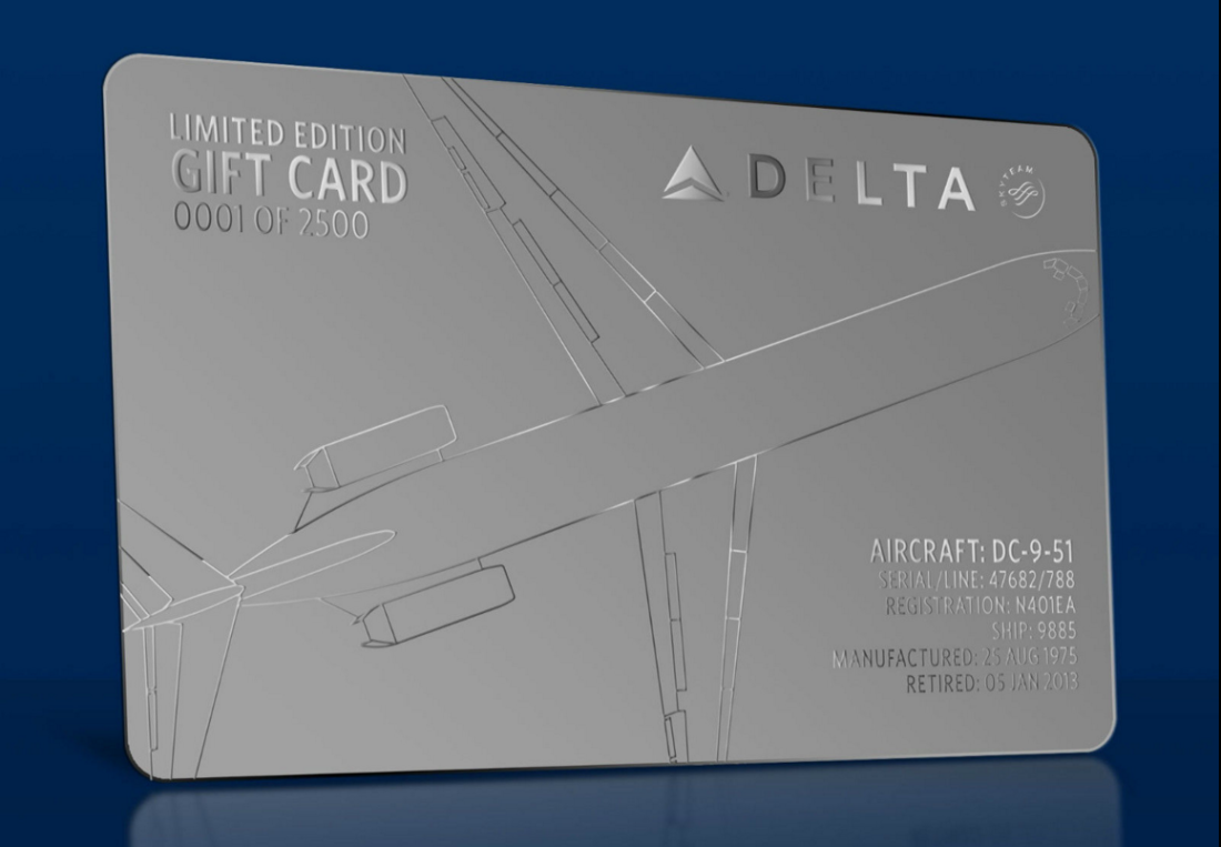 Delta Air Lines Sells Limited Edition Gift Cards Online Experience