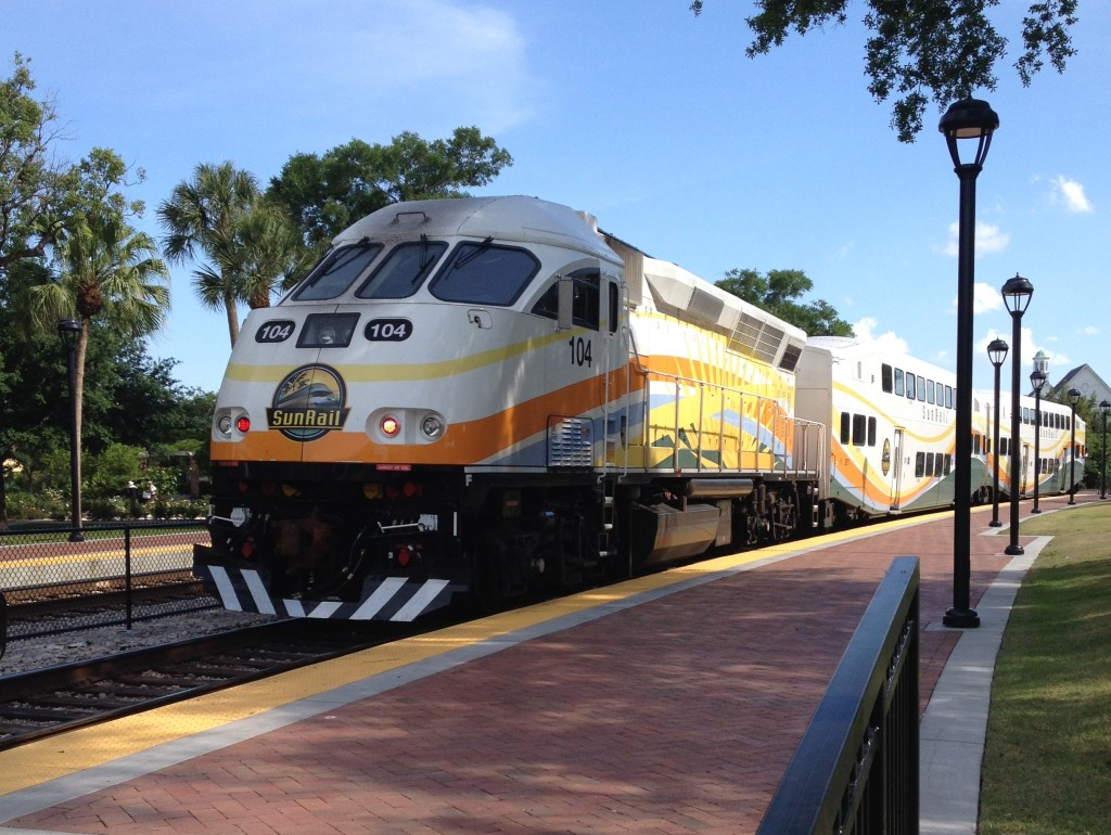 SunRail train leaving Winter Park Station Credit: Artystyk386 - Own work. Licensed under CC BY-SA 3.0 via Commons