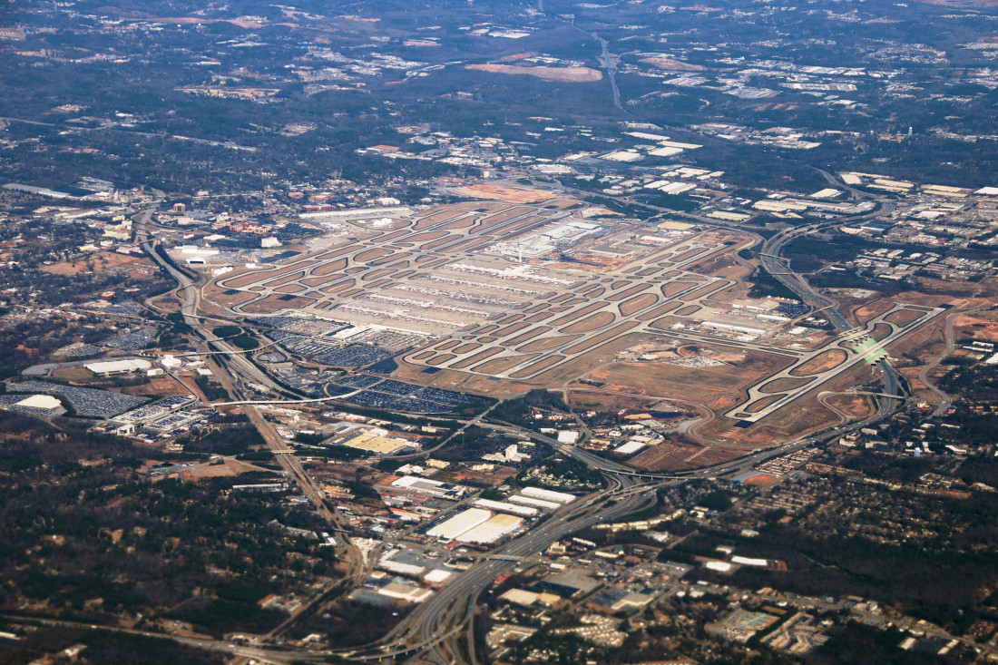 Hartsfield-Jackson Atlanta International Airport (ATL) Aerial View