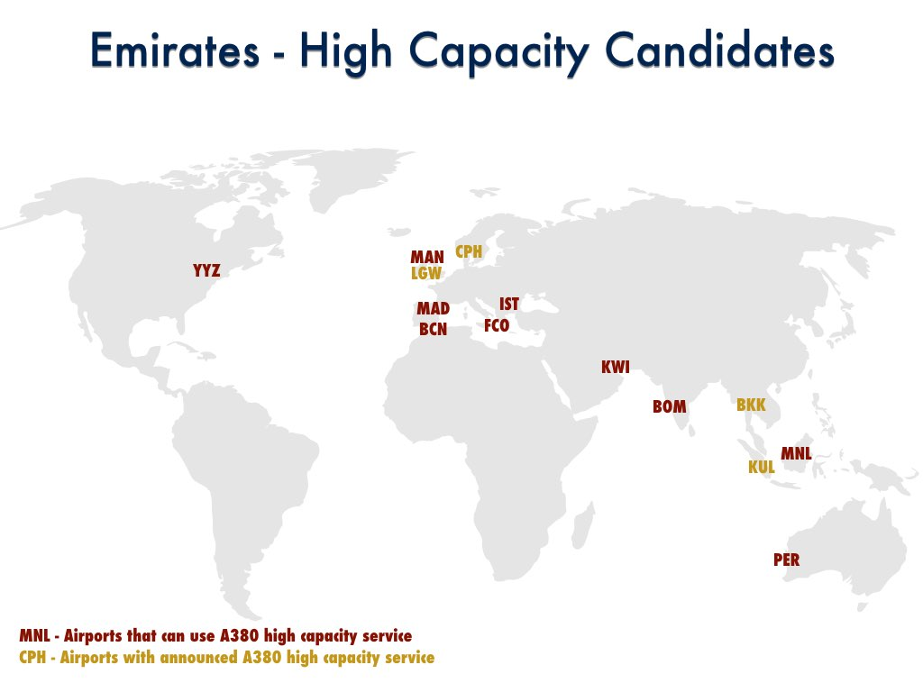 Emirates A380 High Capacity Candidates